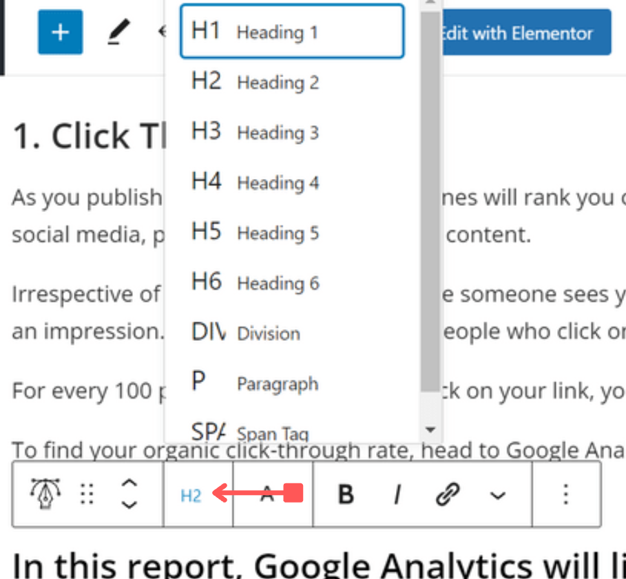how to use keywords in your blog posts header tags
