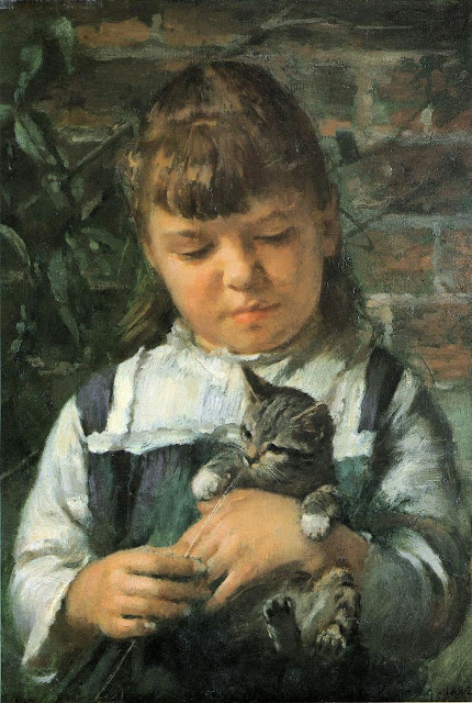 Theodore Robinson - Nantucket Girl.