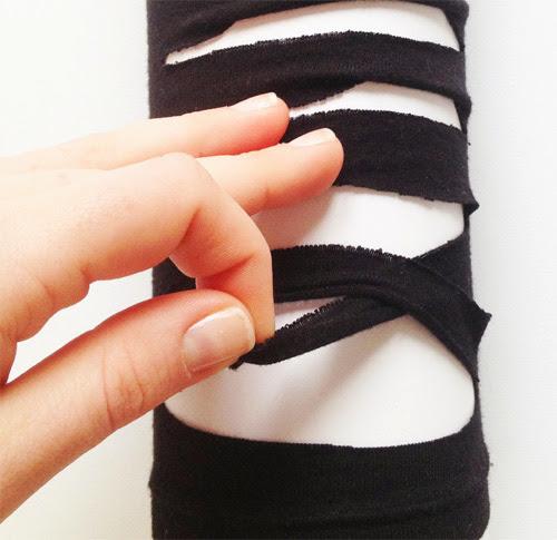 DIY Como fazer tirinhas trançadas na blusa
