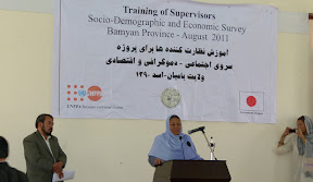Launch of Socio-Demographic & Economic Survey in Bamyan Province - August 2011