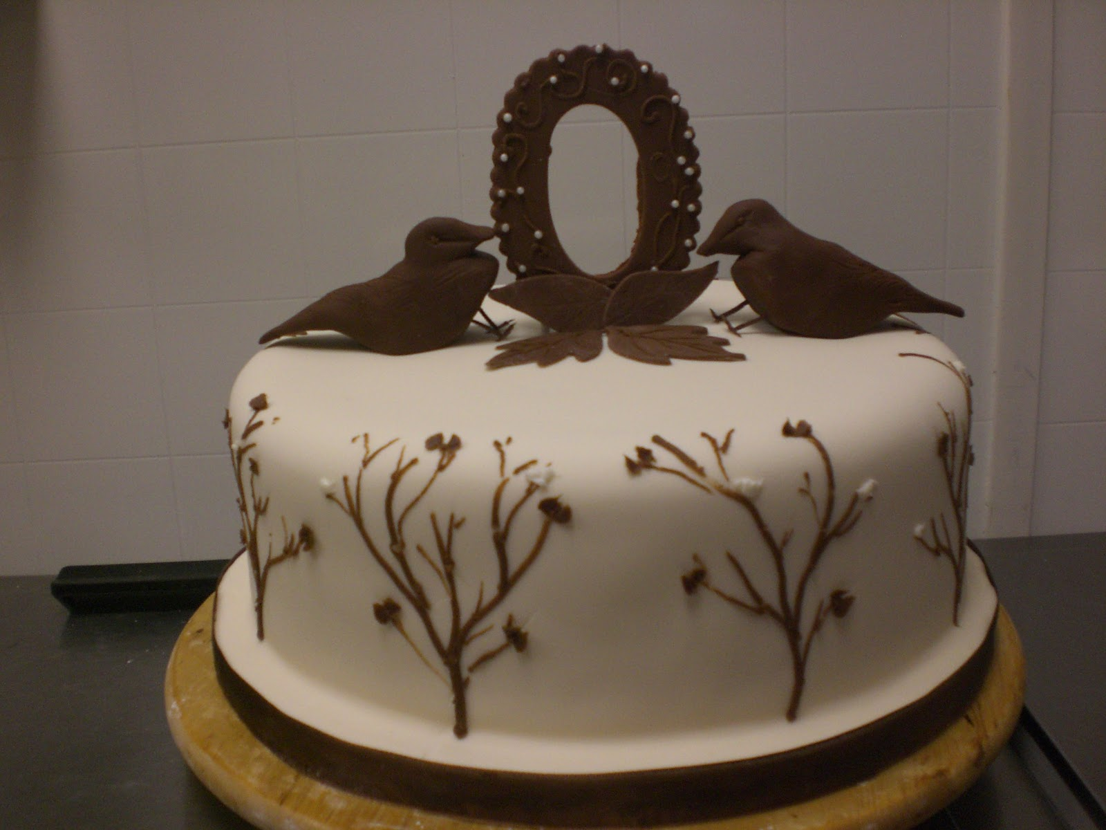 CAFE AROMAS: Twigs and Birds Baby Shower Cake