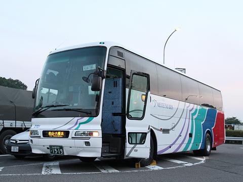 名鉄バス「名古屋~松山線」 上分PAにて