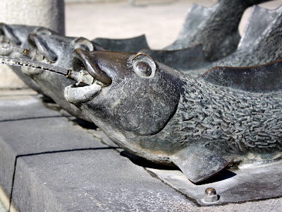 Fish fountain in Ansbach Germany