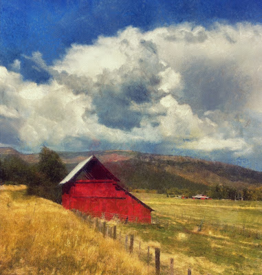 red barn on roadside
