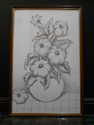 flowers in pot pencil drawing greatcraftgifts2