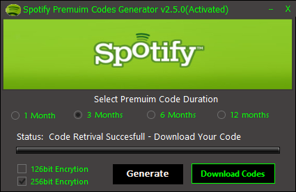 Spotify coupon codes