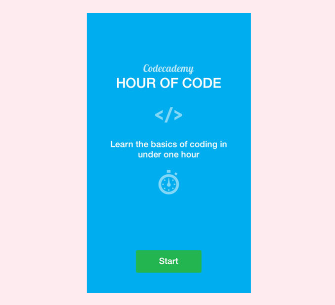 Codecademy Hour of Code