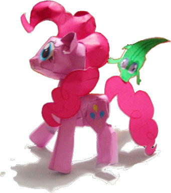 My Little Pony Papercraft Pinky Pie
