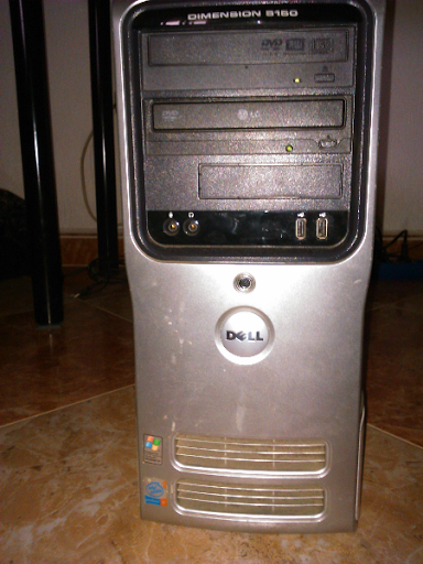 Ordenador Dell, con su teclado, monitor