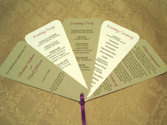 fan wedding programs i got the idea and found the template for