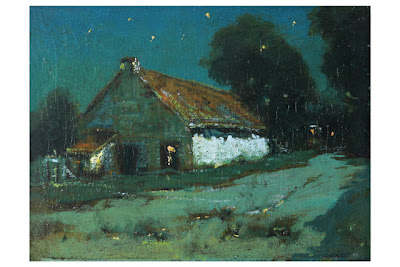 Dark Barn or Barn at Night, Charles Rollo Peters (1862-1928), oil on canvas, City of Monterey Charles Rollo Peters III Collection.