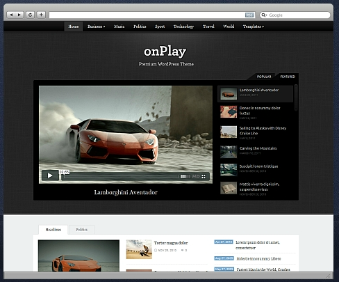 onPlay Theme
