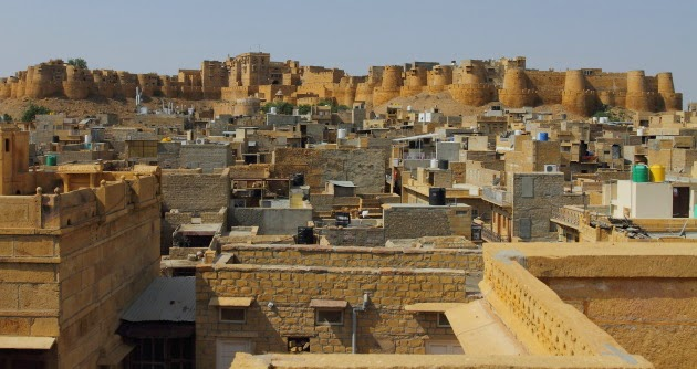 Jaisalmer fort as seen from the top of Patwon ki Haveli