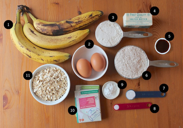 how to make a healthy banana chocolate chip muffin
