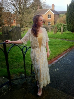 Samantha modelling a wedding dress donated the the Charity Shop - Feb 2014