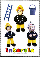 FIREMAN SAM, ELVIS, STATION MASTER STEELE, BUCKET, LADDER
