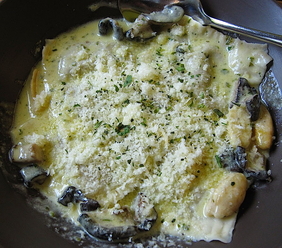 Earth Kitchen's Mushroom Ravioli