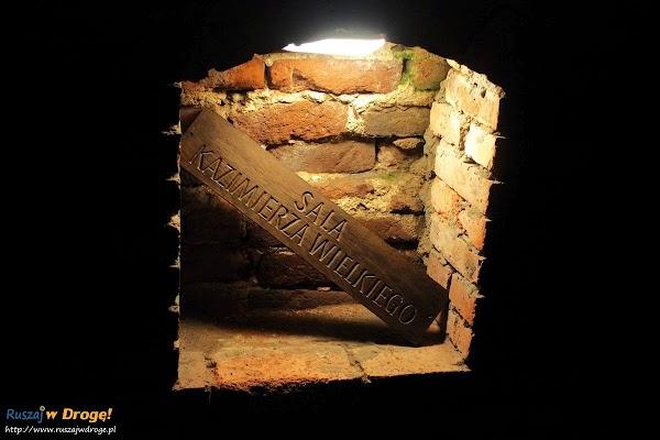 Sandomierz podziemne komnaty - sala kazimierza wielkiego