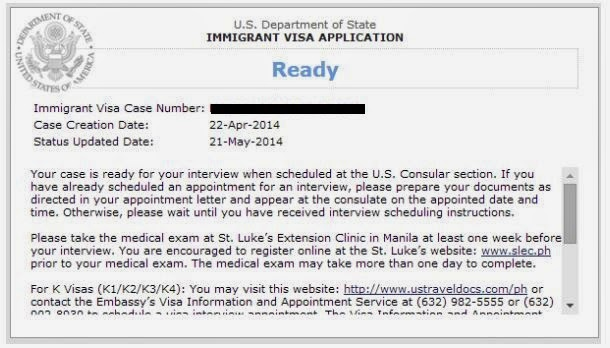 k 1 visa application tracking of case status on ceac
