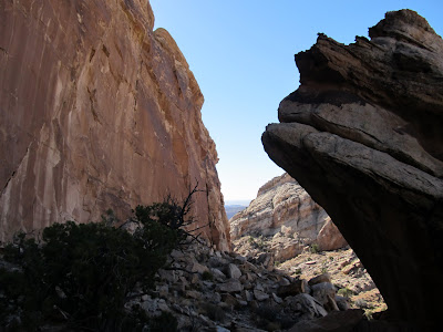 Route into upper Spring Canyon