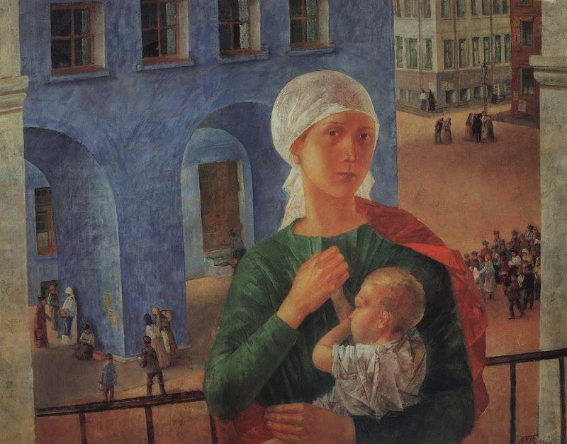 Kuzma Petrov-Vodkin - Petrograd Madonna