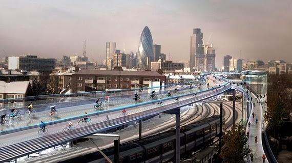 Los carriles bici aéreos de Norman Foster para Londres