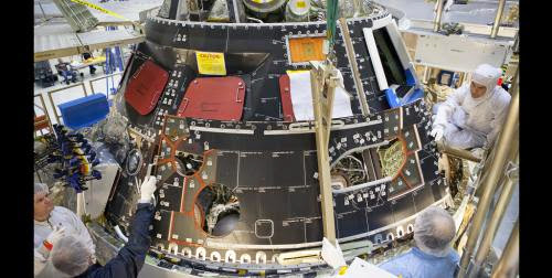 Protective Shell Installed On Orion Spacecraft