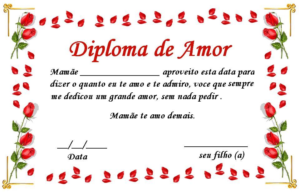Certificado Para O DIA Das Mae's