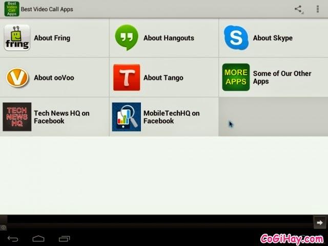 Các ứng dụng video call, gọi thoại có hình cho Asus Zenfone 5