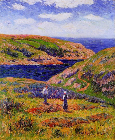 Henry Moret - Cliffs at Clohars, Carnoet, 1910