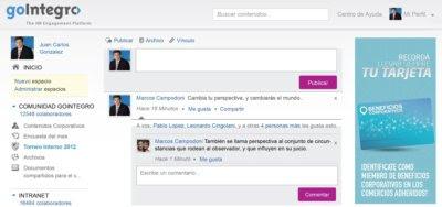 GoIntegro, una plataforma social que permite fortalecer el 'engagement' entre los empleados de las empresas