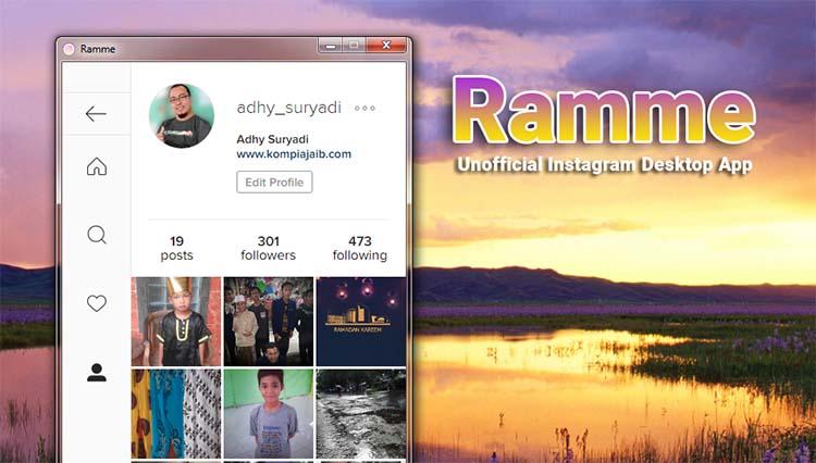 Ramme Aplikasi Instagram Untuk Pengguna Desktop