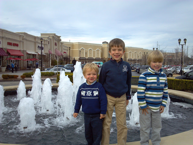 boys on fountain