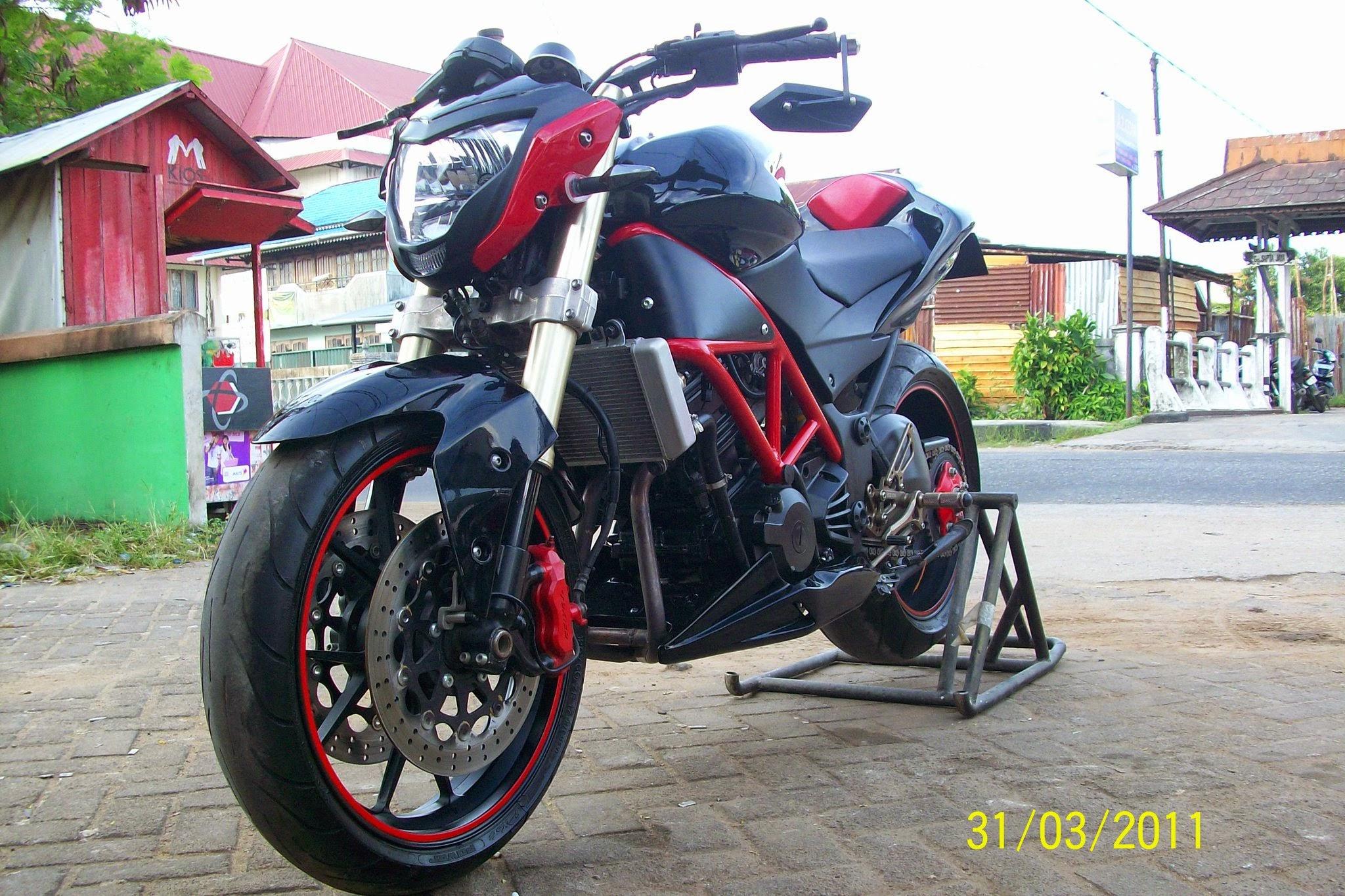 modifikasi ninja rr street fighter model