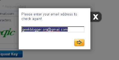Check Email address again