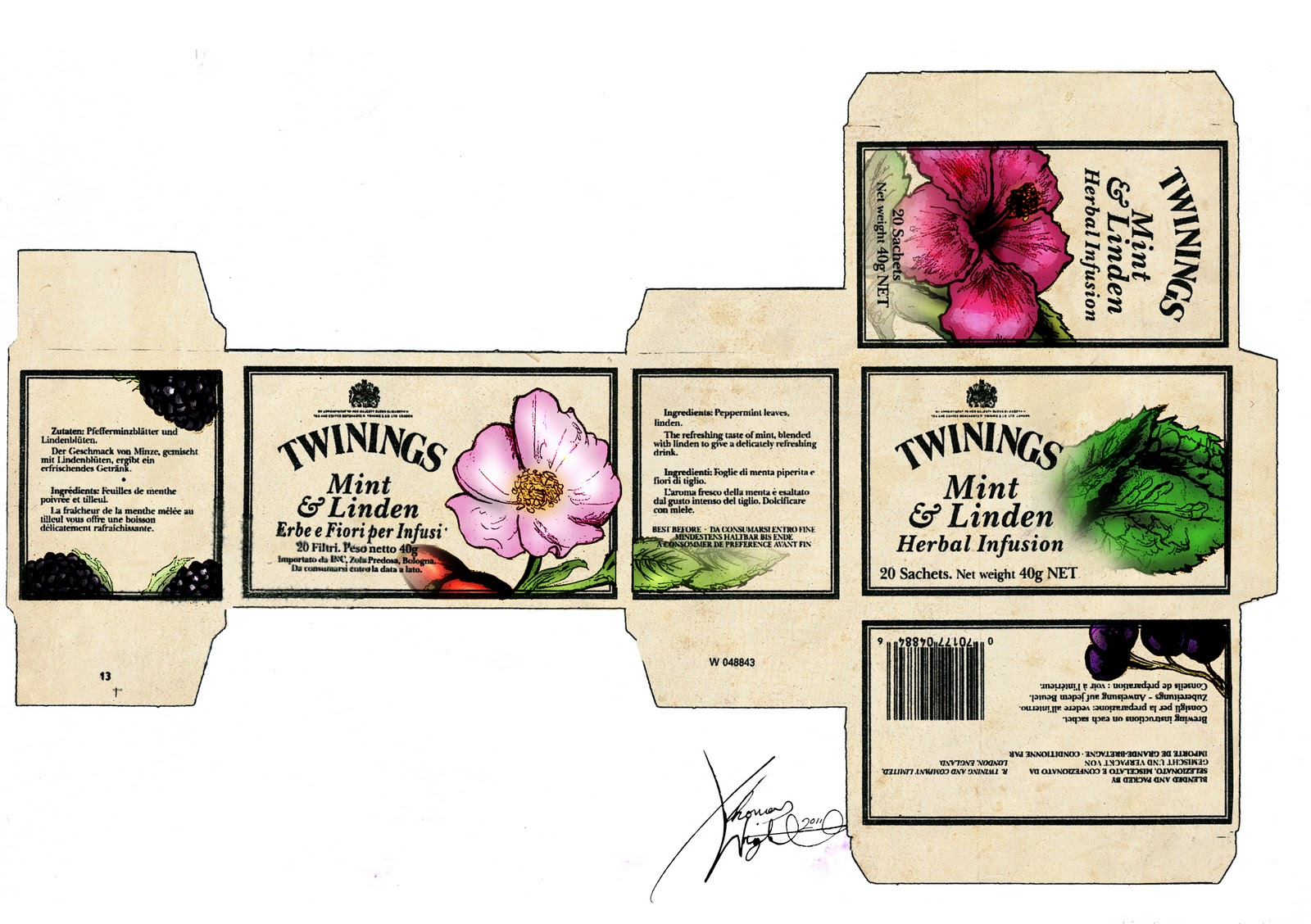 adobe illustrator packaging templates - thomas wright illustrator twining 39 s tea packaging