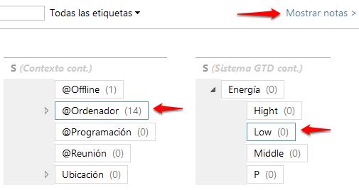 Jerarquía de Tags con selección múltiple