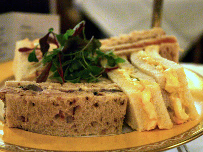 Tea sandwiches at the Goring in London