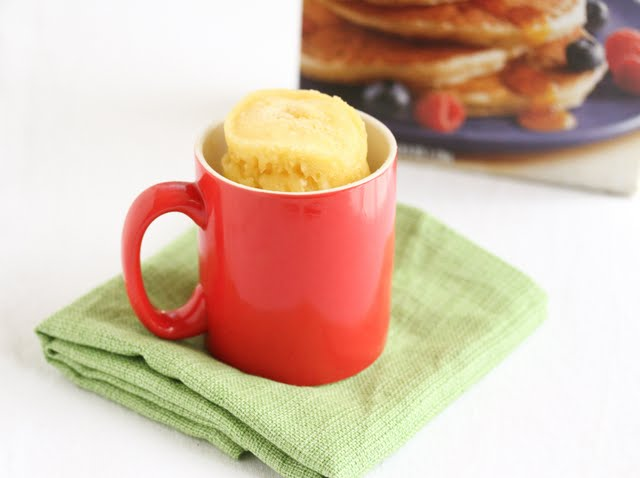 photo of a cake in a mug