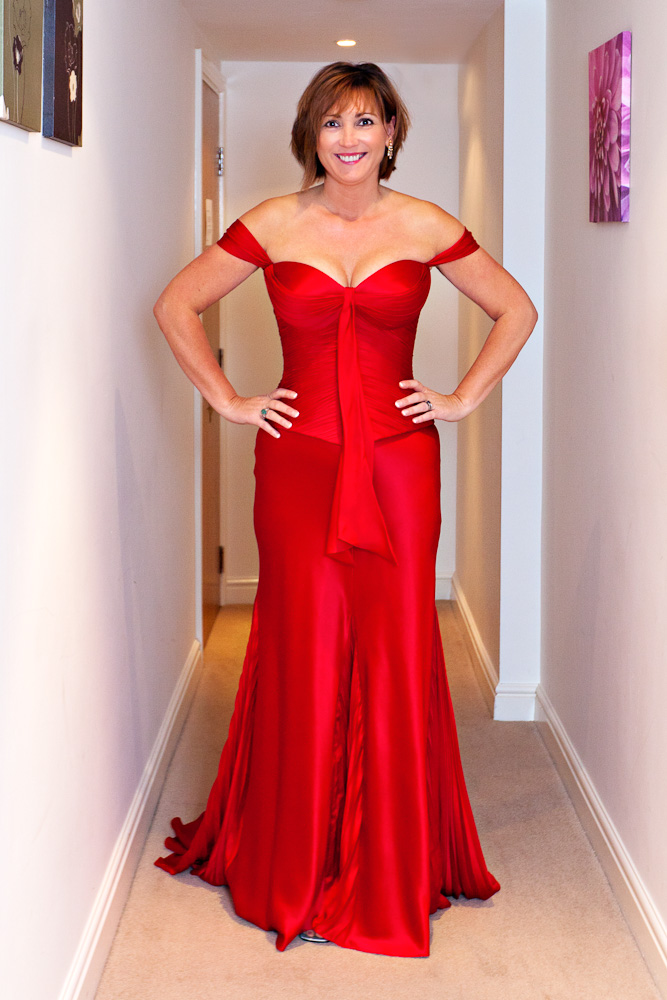 Ellie In Red Messina By Suzanne Neville Full Length