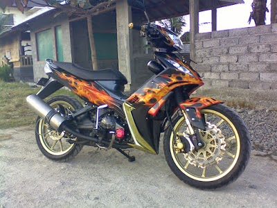 Jupiter Mx Modifikasi Warna Hijau