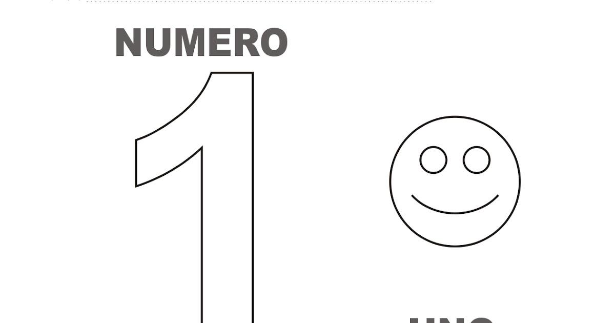Dibujo Del Numero 1 Para Colorear: Dibujos Para Colorear Y Trazar