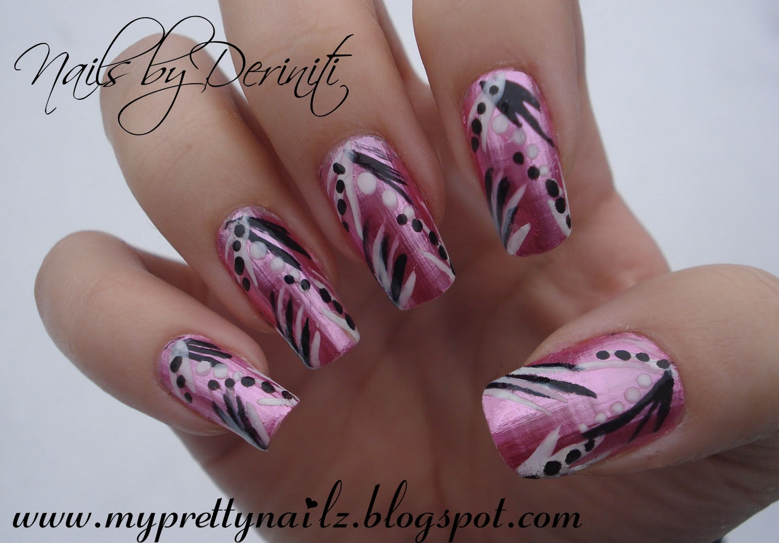 My Pretty Nailz: Chrome Striper Design