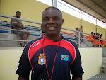 Mwinyi Zahera, sélectionneur adjoint de la RDC, en Guinée Equatoriale lors de la Can 2015. Radio Okapi/Ph. Nana Mbala