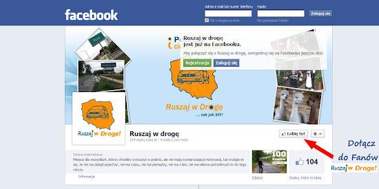 kliknij Lubię Ruszaj w Drogę na Facebooku