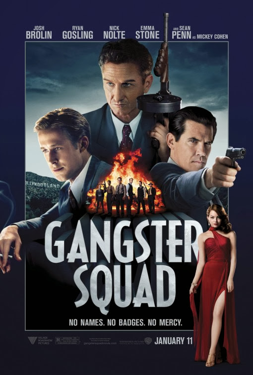 Poster Of Gangster Squad (2013) Full Movie Hindi Dubbed Free Download Watch Online At Alldownloads4u.Com