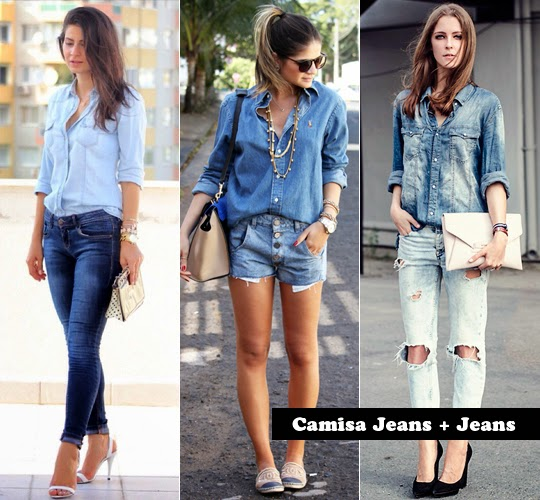 como usar jeans com jeans