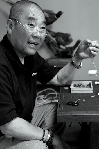 Mr. Amano tenkara angler