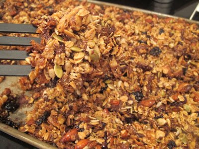 separating homemade granola bars
