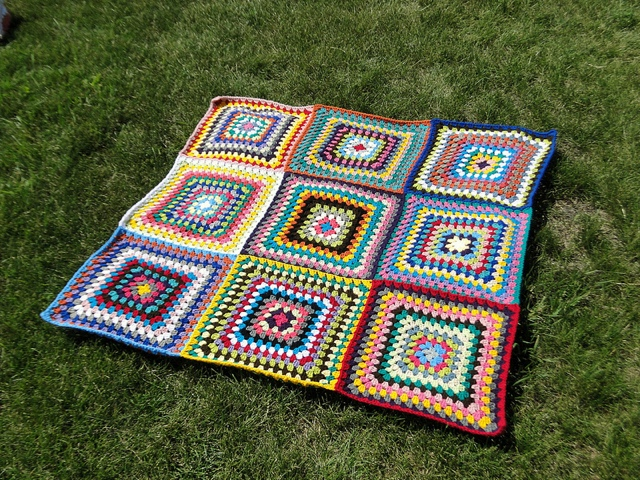 Manta para picnic crochetadas - Manta de picnic ...